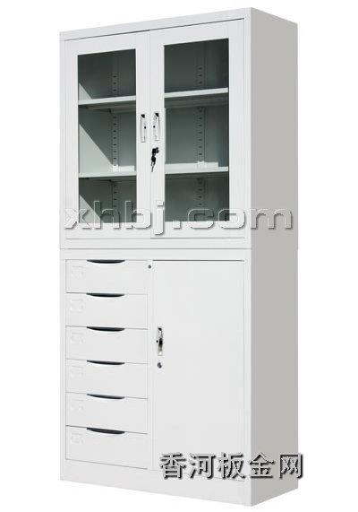 文件柜网提供生产六屉开门柜(分体)厂家
