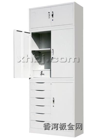 文件柜网提供生产偏六屉加顶文件柜厂家