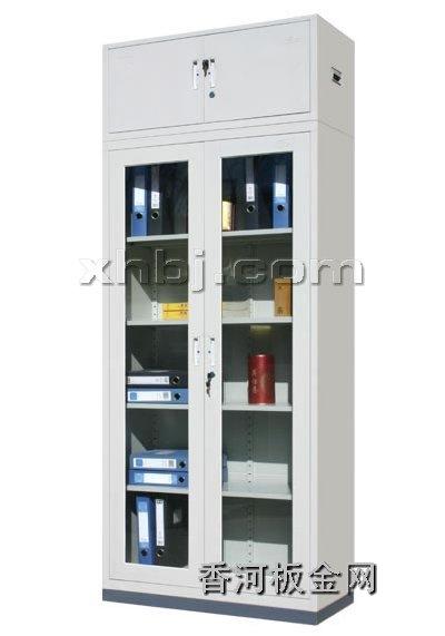 文件柜网提供生产通体玻门加顶文件柜厂家