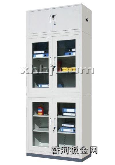 文件柜网提供生产分体玻璃平开门加顶文件柜厂家