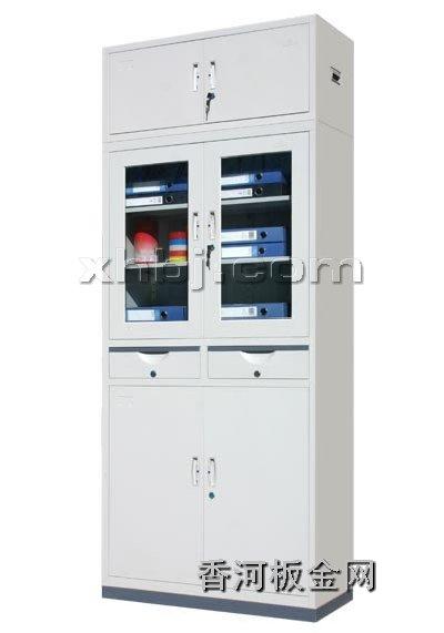 文件柜网提供生产中二屉加顶文件柜厂家