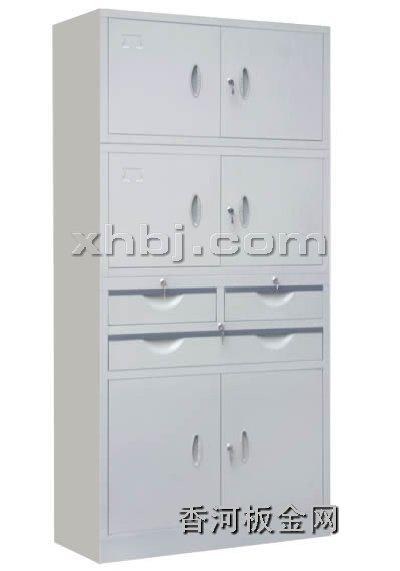 文件柜网提供生产中三屉三节柜(分体)厂家