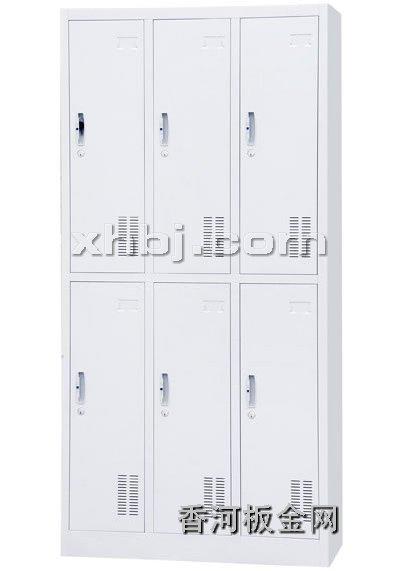 文件柜网提供生产六门更衣柜厂家